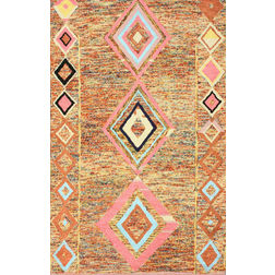 Floor Carpet and Rugs Hand Tufted, The Rug Concept Rust Carpets Online Tbilisi 6020-S, 3ft x 5ft, rust