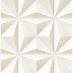 Elementto Geometric Design Modern 3D Wallpaper for Walls - td30900, beige