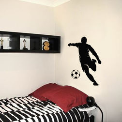 Kakshyaachitra Goalkeeper Kick Wall Stickers For Bedroom And Living Room, 24 35 inches