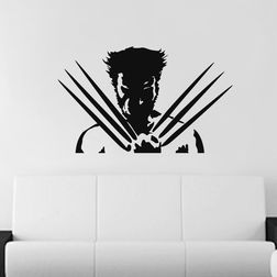Kakshyaachitra Wolverine Wall Stickers For Bedroom And Living Room, 24 15 inches