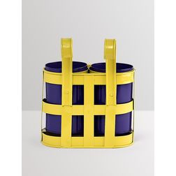 Aasra Decor Yellow & Blue Basket with Cup Planters GardenPots & Planters, multi