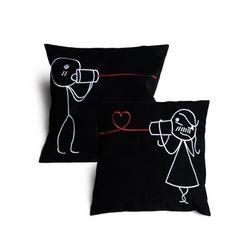 U & Me Cushion Cover MYC-74, pack of 1, black