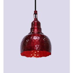 Aasra Decor Red Uneven Semisphere Pendant Lamp Lighting Ceiling, red