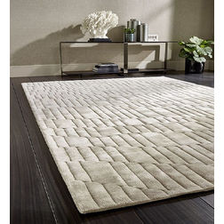 Floor Carpet and Rugs Hand Tufted, AC Concept Geometric White Carpets Online -B2-20-L, white, 3ftx5ft