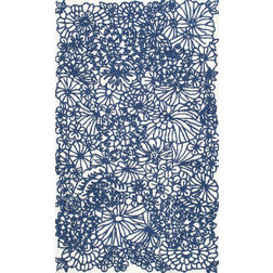 Floor Carpet and Rugs Hand Tufted, The Rug Concept Blue Carpets Online Tbilisi 6078-L, blue, 3ft x 5ft