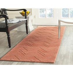 Floor Carpet and Rugs Hand Tufted, AC Concept Geometric Orange Carpets Online -B2-49-L, 3ftx5ft, orange