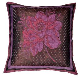 Dreamscape Embroided Pink Cushion Covers, pink