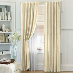 Bang Stripes Readymade Curtain - ST1012, window, beige