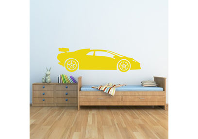 Kakshyaachitra Sport Racing Car Kids Wall Stickers, 48 14 inches