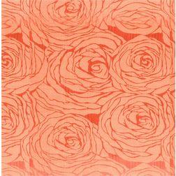Constellation Floral Curtain Fabric - 106, orange, sample