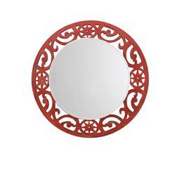 Aasra Decor Eclectic Mirror Decor Wall Mirror, orange