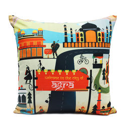 Mad(e) In India Agra Modern Cushion Covers, multi