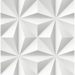 Elementto Geometric Design Modern 3D Wallpaper for Walls - td30900, white