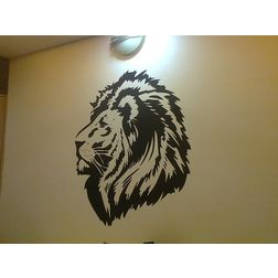 Kakshyaachitra Lion Head Wall Stickers For Kids Room, 42 48 inches