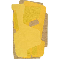Floor Carpet and Rugs Hand Tufted AC ConceptAbstract Yellow Carpets Online - SC-43-L, 3ftx5ft, yellow