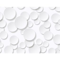 Elementto Creative Circle Design Modern 3D Wallpaper for Walls - td32100, white