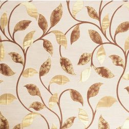 Emporio Floral Curtain Fabric - OSC703, beige, fabric