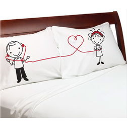 Connected Pillow Cover MYC-91, pack of 2, white