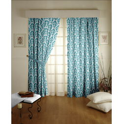 Tiara Classic Readymade Curtain - 27, door, blue