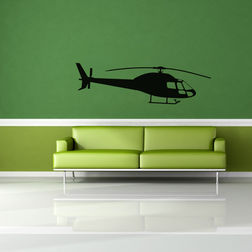 Kakshyaachitra Helicopter Wall Stickers For Kids Room, 24 7 inches