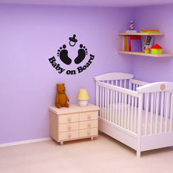 Kakshyaachitra Baby On Board Wall Stickers For Kids Room, 48 39 inches