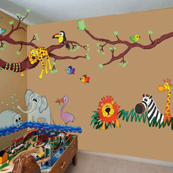 Wall Sticker For Kids Design Wild Jungle Hangout WD003