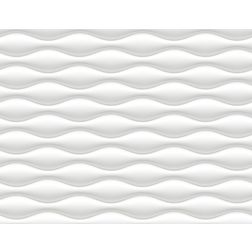 Elementto Wave Design Modern 3D Wallpaper for Walls - td31700, white