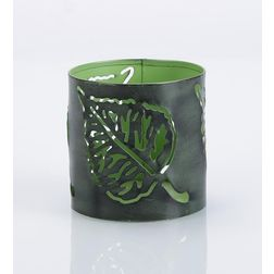 Aasra Decor Peepal Leaf Candle Votive DecorVotives, green