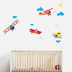 Wall Stickers For Kids Design Aeroplanes WD014