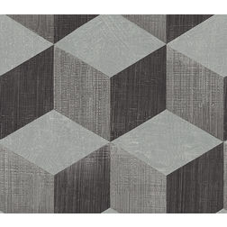 Elementto Wallpapers Geometric Design Home Wallpaper For Walls cr61310-13, dark grey