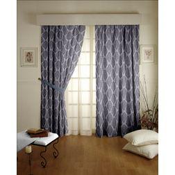 Tiara Classic Readymade Curtain - 32Bluelack, door, grey