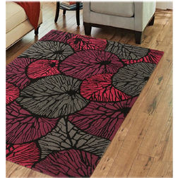 Floor Carpet and Rugs Hand Tufted AC Concept Floral Red Carpets Online - A2-42-L, 3ftx5ft, red