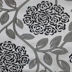 Jewel Floral Curtain Fabric - 37, grey, fabric
