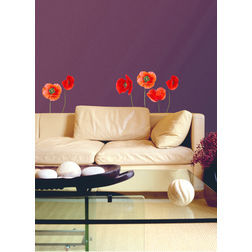Wall Stickers Home Decor Line Poppies - 54101