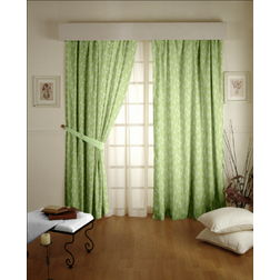 Constellation Floral Readymade Curtain - ZI107, door, green