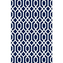 Floor Carpet and Rugs Hand Tufted, AC Concept Geometric Blue Carpets Online - ACR (13) -L, blue, 3ftx5ft