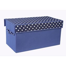 Toy Sorter for Kids,  navy blue polka dot sorter