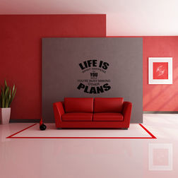 Kakshyaachitra Life is Plan Wall Stickers For Bedroom And Living Room, 24 24  inches