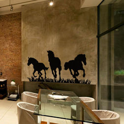 Kakshyaachitra Three Horses Wall Stickers For Kids Room, 48 24 inches