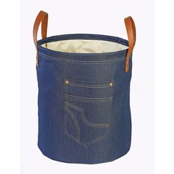 Laundry Hamper Storage,  denim