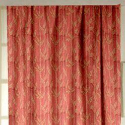 Constellation Floral Readymade Curtain - ZI106, orange, door