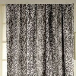 Roseberry Abstract Readymade Curtain - 24, window, brown
