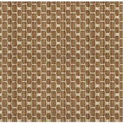 Constellation Geometric Curtain Fabric - 104, brown, fabric