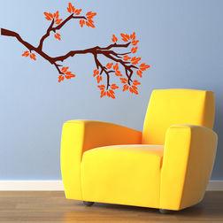 Wall Stickers Chipakk Leafy Branch Orange