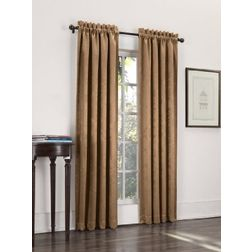 Softy Solid Readymade Curtain - SJ807, door, brown