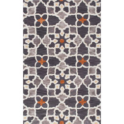 Floor Carpet and Rugs Hand Tufted, The Rug Concept Grey Carpets Online Tbilisi 6055-M, grey, 3ft x 5ft