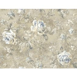 Elementto Wallpapers Floral Design Home Wallpaper For Walls ew70100, light brown