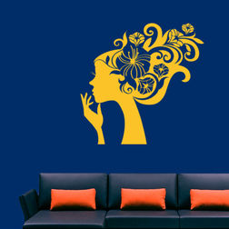 KakshyaaChitra Woman & Flower Wall Decal