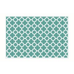 Dreamscape Abstract Blue Table Mat Set - 6 Pieces, green, 21.5 in