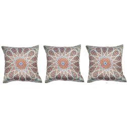 My Room Satin Multicolor Ethnic Cushion Covers, pack of 3, multi